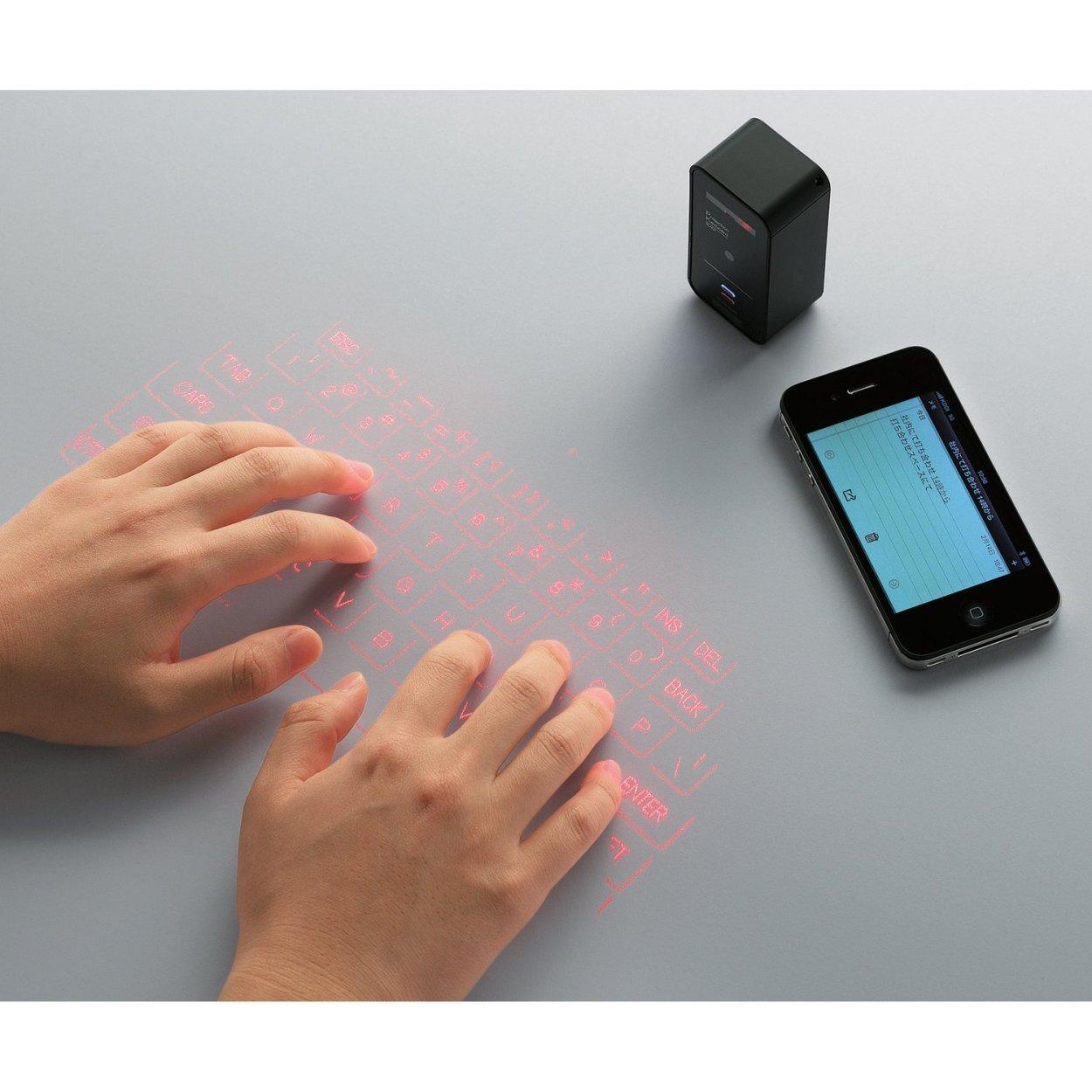投映型プロジェクションキーボード