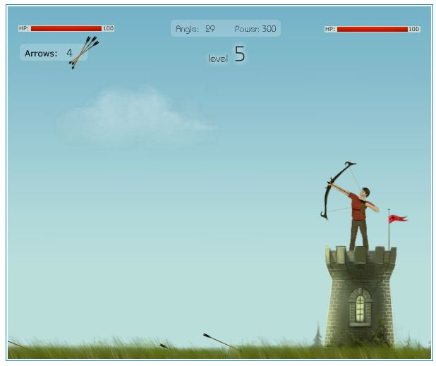 ボウガンで撃ち合いフラッシュゲーム「Bow Chief」